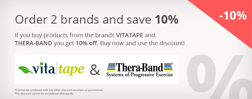 10% off Vitatape and Theraband combi
